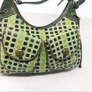 isabella fiore | Green Tweed HOBO Handbag